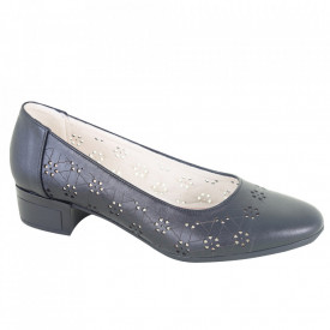Pantofi din piele naturală cod 1141 Negru