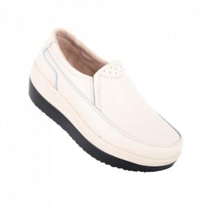 Pantofi din piele naturală cod 1158 Beige