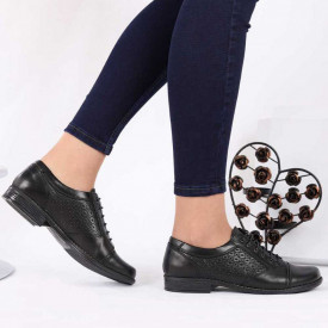 Pantofi din piele naturală cod 15637 N-PR