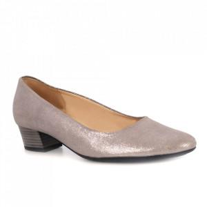Pantofi din piele naturală cod 2547 Silver