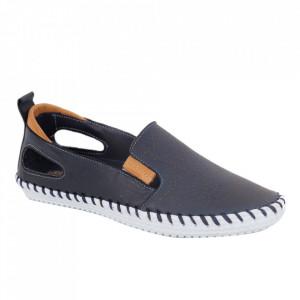 Pantofi din piele naturală cod 30107 Navy