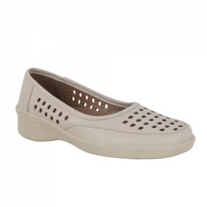 Pantofi din piele naturală cod 3200 Bej