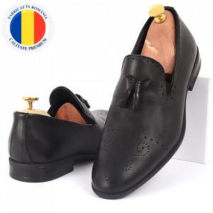 Pantofi din piele naturală cod 5456