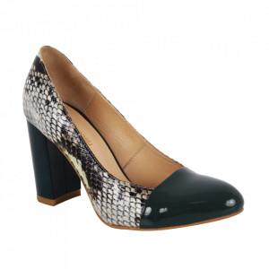 Pantofi din piele naturală cod 62517 Green