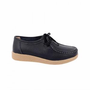 Pantofi din piele naturală Cod A5665 Black - Pantofi pentru dame din piele naturală cu talpă flexibilă - Deppo.ro