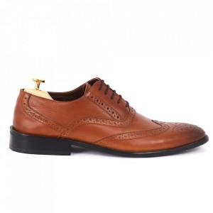 Pantofi din piele naturală cod KING-M Maro - Pantofi din piele naturală, model simplu, finisaje îngrijite cu undesign deosebit - Deppo.ro