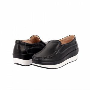 Pantofi din piele naturală Hazel Black - Pantofi pentru dame din piele naturală cu talpă ortopedică flexibilă - Deppo.ro