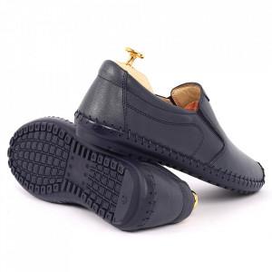Pantofi din piele naturală Kia Navy - Pantofi din piele naturală pentru bărbați, model simplu, finisaje îngrijite cu undesing deosebit - Deppo.ro