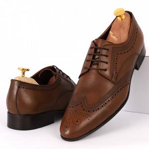 Pantofi din piele naturală maro cod DIVARESE885