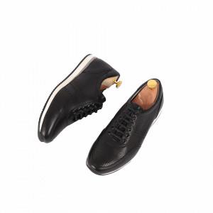 Pantofi din piele naturală Marvin Negru - Pantofi din piele naturală Închidere prin șiret Model simplu, finisaje îngrijite Cu undesing deosebit - Deppo.ro