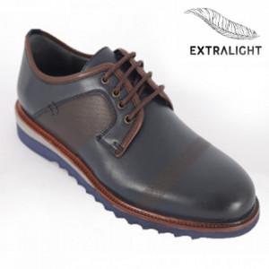 Pantofi din piele naturală pentru bărbați cod 10255 Lacivert