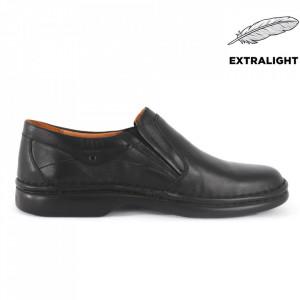Pantofi din piele naturală pentru bărbați cod 11 Negru