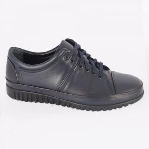 Pantofi din piele naturală pentru bărbați cod 1456 Navy