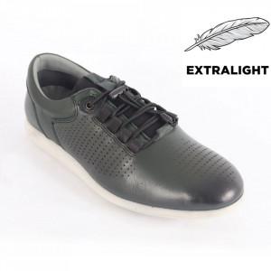 Pantofi din piele naturală pentru bărbați cod 1921 Green