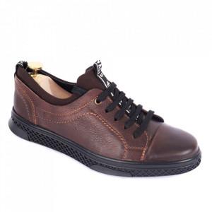 Pantofi din piele naturală pentru bărbați cod 302-1 Maro