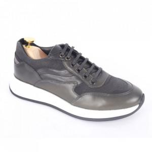 Pantofi din piele naturală pentru bărbați cod 328-1 Verde
