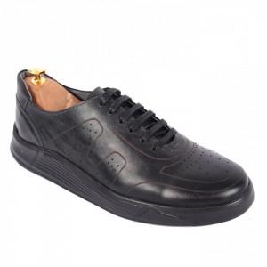 Pantofi din piele naturală pentru bărbați cod 338-1 Negru
