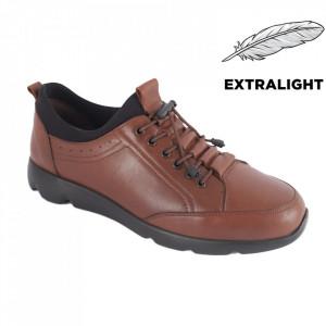 Pantofi din piele naturală pentru bărbați cod 5201 Tan