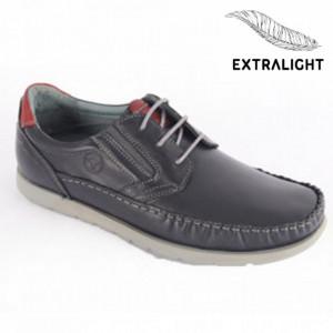 Pantofi din piele naturală pentru bărbați cod 621 Blue