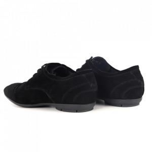 Pantofi din piele naturală pentru bărbați cod 7112 Negru - Pantofi pentru bărbați, foarte comozi. - Deppo.ro