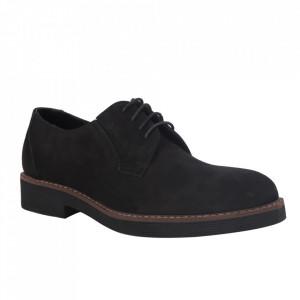 Pantofi din piele naturală pentru bărbați cod P180 Negru