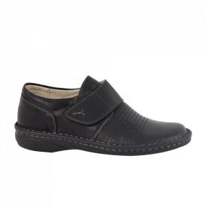 Pantofi din piele naturală pentru dame cod 110907 N-P