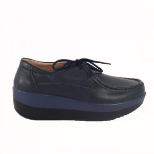 Pantofi din piele naturală pentru dame cod 1136 Navy