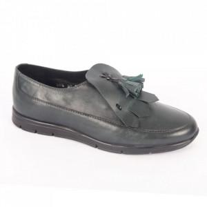 Pantofi din piele naturală pentru dame cod 305 Verde