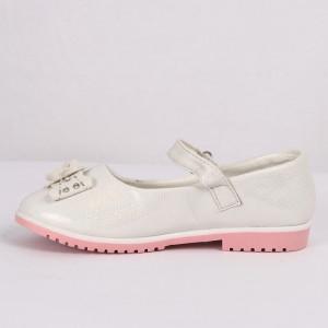 Pantofi pentru fete cod CP67 Albi - Pantofi pentru fete cu un design lejer ceea ce ii face foarte comozi la purtare - Deppo.ro