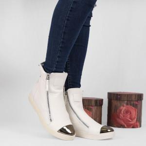 Pantofi Sport Cod 674 - Pantofi sport din piele ecologică  Vârf lăcuit  Închidere prin fermoar  Foarte comfortabili - Deppo.ro