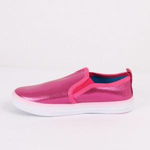 Pantofi sport cod CP80 Pink - Pantofi sport din material textil cu talpă din spumă și închidere cu scai - Deppo.ro