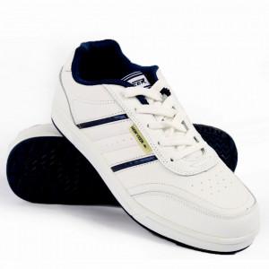 Pantofi Sport din piele naturală pentru bărbați cod 9204 White