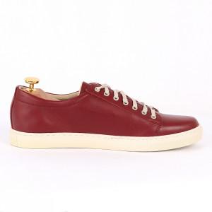 Pantofi sport din piele naturală vişinii cod 3283 - Pantofi pentru bărbaţi din piele naturală, model simplu, finisaje îngrijite cu un design deosebit - Deppo.ro