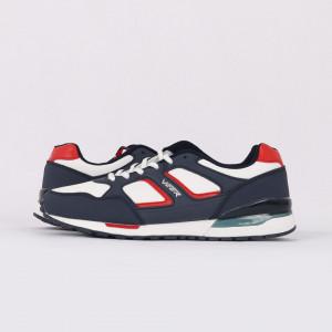 Pantofi Sport pentru bărbați cod 1629-2 Albastri - Pantofi sport foarte comozi ideali pentru ieșiri si practicarea exercitiilor în aer liber - Deppo.ro