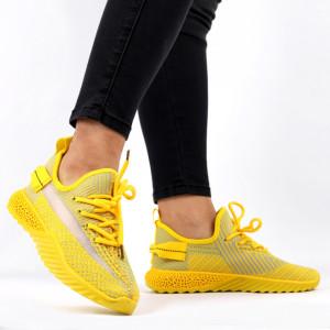 Pantofi Sport pentru dame Cod 1653SM-Yellow