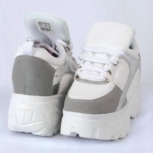 Pantofi Sport pentru dame Cod VENUS-00006 Albi - Pantofi sport albi din material textil respirabil cu vârf rotund și talpă din silicon flexibilă si confortabilă - Deppo.ro