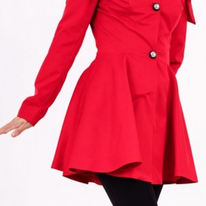 Pardesiu Janice Roșu - Cumpără îmbrăcăminte și încălțăminte de calitate cu un stil aparte mereu în ton cu moda, prețuri accesibile și reduceri reale, transport în toată țara cu plata la ramburs - Deppo.ro