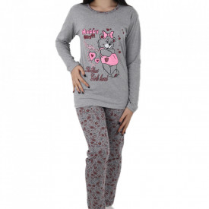 Pijama pentru dame cod GRBR Grey