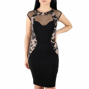 Rochie Faire Black - Rochie roşie scurtă cu un design unic ce îţipune-ți silueta în evidență și atrage toate privirile - Deppo.ro