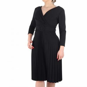 Rochie Plisată Leona Neagră