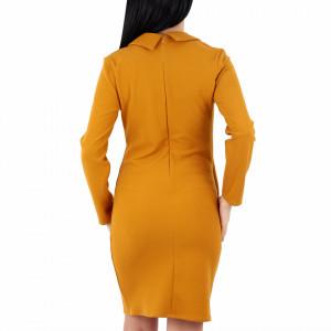 Rochie Shayla Muștarie - Rochiemuștariecu nasturi decorativi , decolteu în V, simte-te atrăgătoare purtând această rochie și strălucește la urmatoarea petrecere. - Deppo.ro