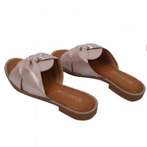 Saboți pentru dame cod W21-30 Pink - Pantofi cu un model, foarte confortabili potriviți pentru birou sau evenimente speciale. - Deppo.ro