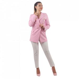 Sacou Mya Pink - Sacoul Mya îți completează ținuta perfect. Acesta are închidere prin nasturi și este ușor de asortat. - Deppo.ro