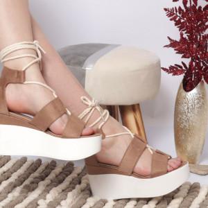 Sandale cu platforma cod KFL 820 Khaki