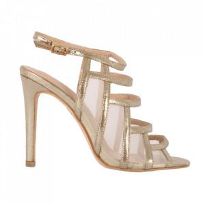 Sandale din piele ecologică cod OD0239 Gold