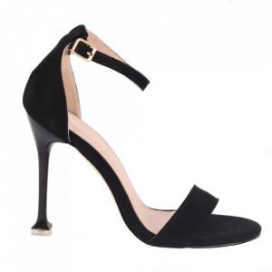 Sandale din piele ecologică cod OD345 Black