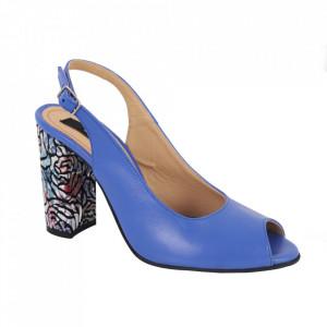 Sandale din piele naturală cod 1068 Albastru