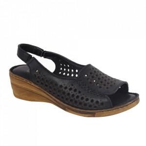 Sandale din piele naturală pentru dame cod 1038 Black