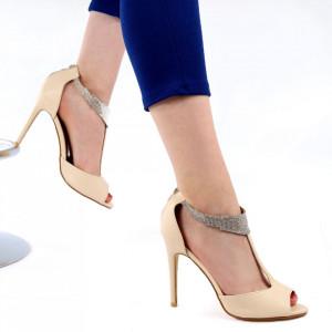 Sandale pentru dame cod F018 Bej