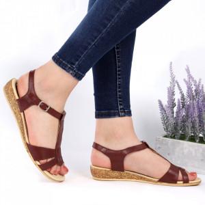 Sandale pentru dame din piele naturală cod 544T Vis